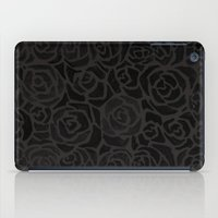 Cluster of Black Roses iPad Case
