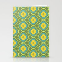 Retro Floral Cold 3 Stationery Cards