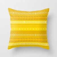 Indomitable - tribal geometrics Throw Pillow
