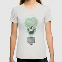 Think Martian  Womens Fitted Tee Silver SMALL
