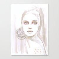 Fade fashion illustration portrait Canvas Print