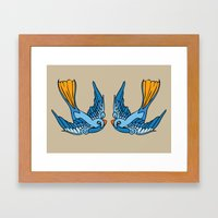 Swallow Tattoo Framed Art Print