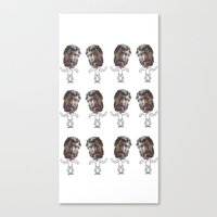 dancing heads Canvas Print