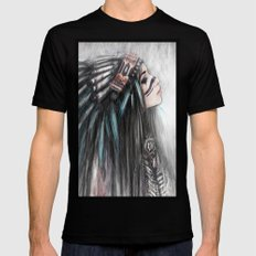 Walking Through Fog Mens Fitted Tee Black SMALL