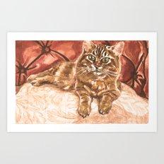 King Kona the Cat Art Print