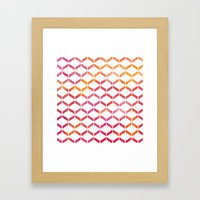 Sunset Geometric  Framed Art Print