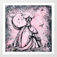 a lovely dress for cinderelly  Art Print
