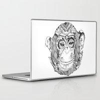 monkey Laptop & iPad Skins featuring Monkey by Cherry Virginia