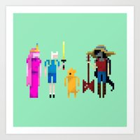 Adventure Time Gang Art Print