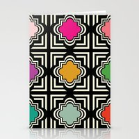 Geo Tile  Stationery Cards