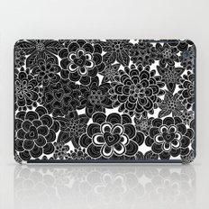 Happy flowers in black.  iPad Case
