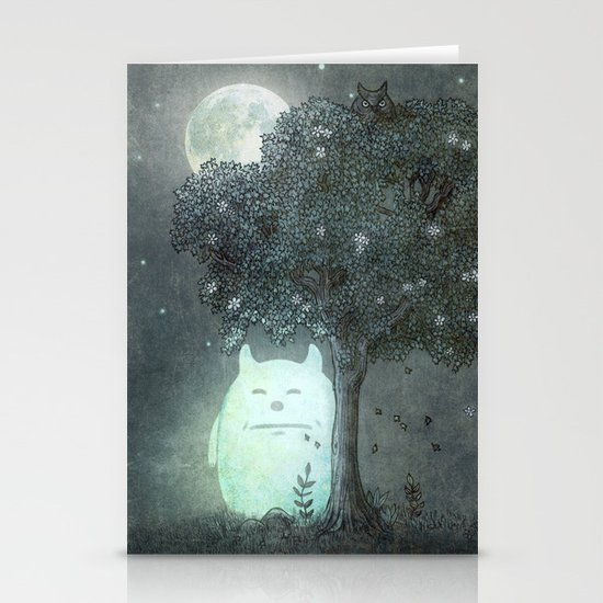 Full Moon Spirit  Stationery Card
