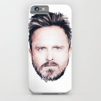 iPhone & iPod Case featuring Aaron Paul Digital Portrait by Antoine Dutilh