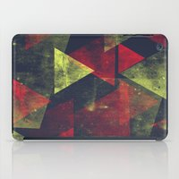 weathered triangles iPad Case