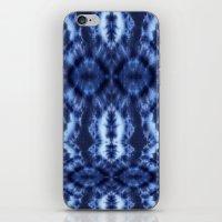 Topanga Tie-Dye Blue iPhone & iPod Skin