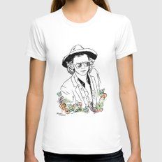 Harry Styles Womens Fitted Tee White SMALL