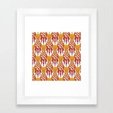 SCORCH pattern [WHITE] Framed Art Print