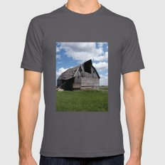Abandoned Barn #7 Mens Fitted Tee Asphalt SMALL