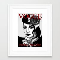 Ashley Dzerigian in VOGUE Framed Art Print