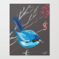 Little Blue Fairy Canvas Print