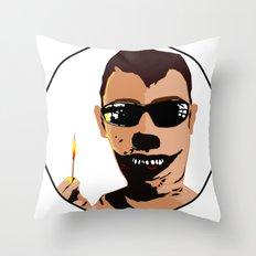 Mr. F - Arsonist Throw Pillow