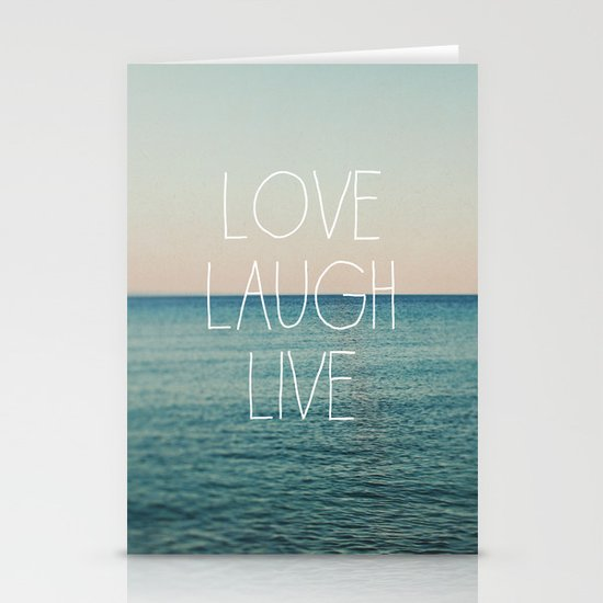 Love Laugh Live #2 Stationery Card