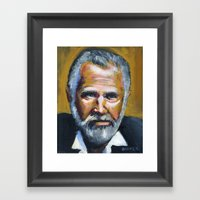 The Most Interesting Man In The World Framed Art Print