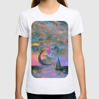 Moonset Womens Fitted Tee Ash Grey SMALL