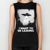I WANT TO BE LEAVING Biker Tank