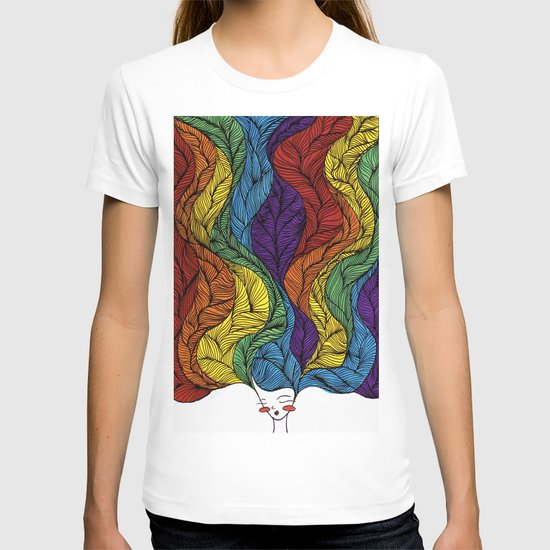 Rainbow Hair T-shirt