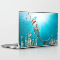 the little mermaid Laptop & iPad Skins featuring Little Mermaid by Simone Gatterwe