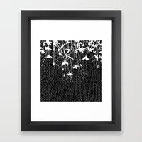 white wildflowers Framed Art Print