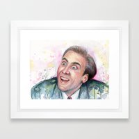 Nicolas Cage You Don't Say Framed Art Print