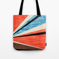 Graphic Woodgrain Tote Bag