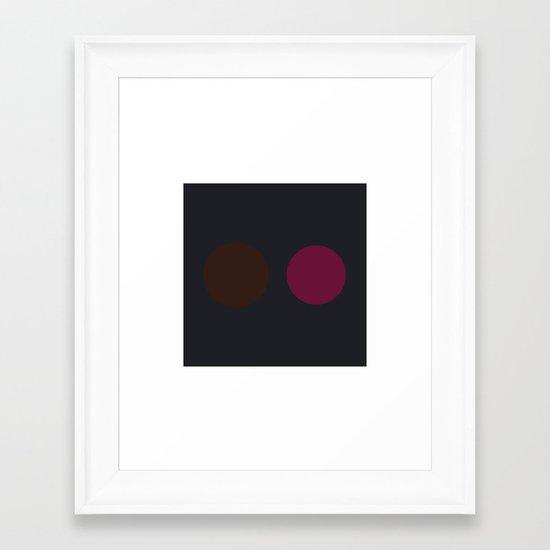 #23 Dot Dot Framed Art Print
