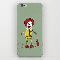 Sad Ronald McDonald In A Field iPhone & iPod Skin
