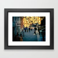 Along the Canal Framed Art Print