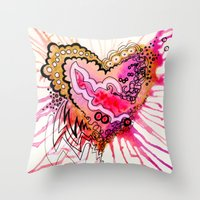 Golden Love Throw Pillow