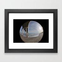 Fisheye View Framed Art Print