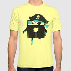 Software Pirate Mens Fitted Tee Lemon SMALL