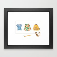 Summer Adventures Framed Art Print