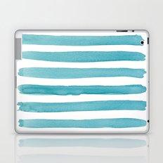 Watercolor Juicy Strokes: Teal Laptop & iPad Skin