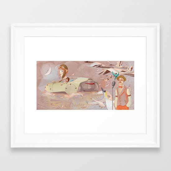 Aviator Night Framed Art Print