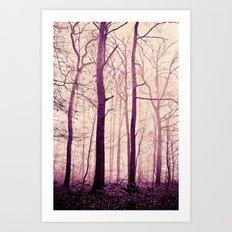 purple trees Art Print