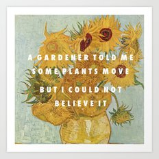 Hunting for Sunflowers Art Print