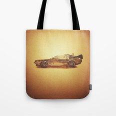 Lost in the Wild Wild West! (Golden Delorean Doubleexposure Art) Tote Bag