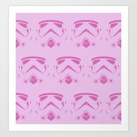 Troops In Pink Art Print