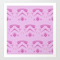 Troops In Pink Art Print
