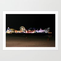 Casino Pier, Seaside Art Print
