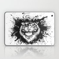 TigARRGH!! (Black and White) Laptop & iPad Skin